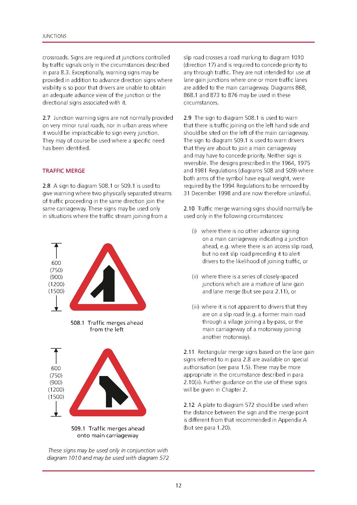 uk traffic signs manual chapter 4