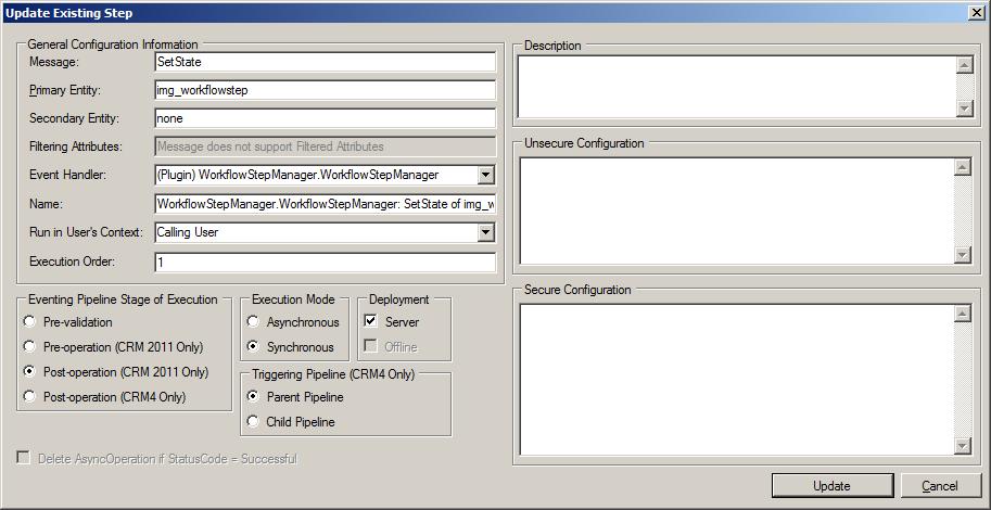 dynamics crm manually trigger plugin