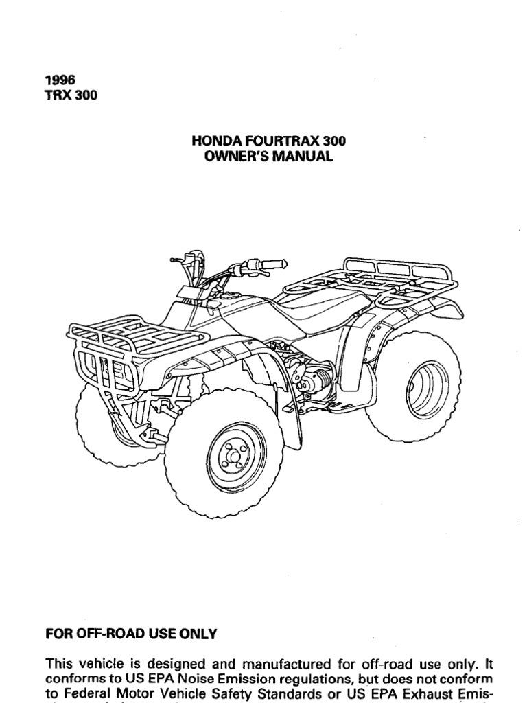 1986 honda fourtrax trx 350 manual pdf