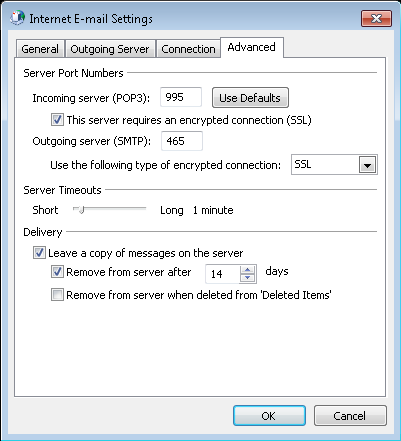 outlook 2016 manual setup for a new email account