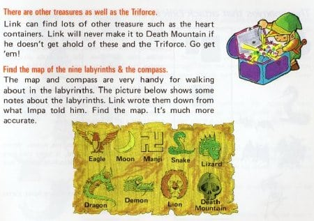 legend of zelda japanese manual