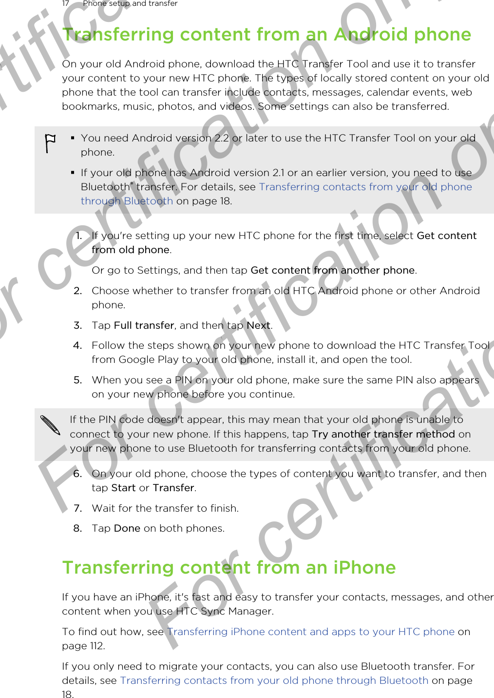 htc puma mini user manual