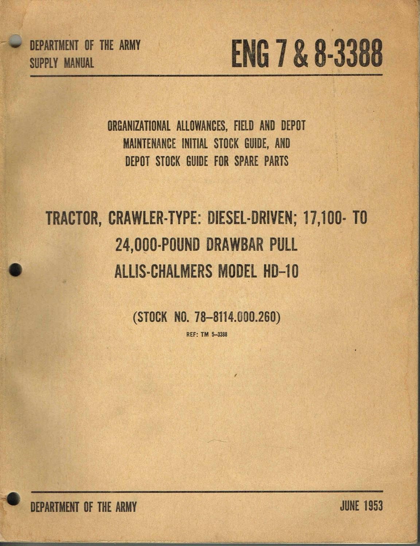 allis chalmers c parts manual