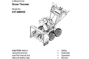 manual for craftsman snow blower model c459-52106