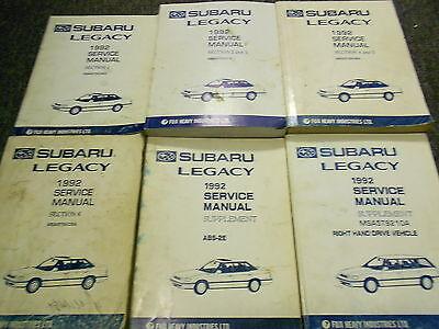 subaru legacy 1992 service manual
