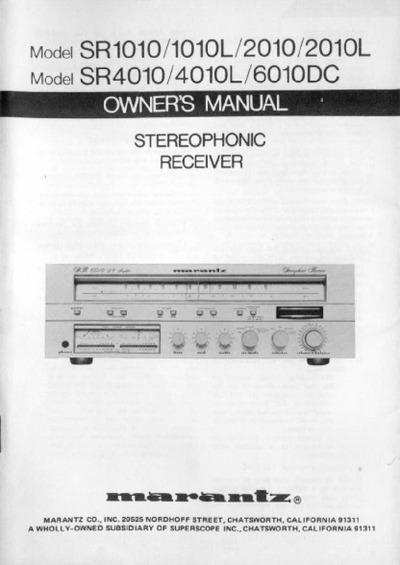 marantz sr 19 service manual