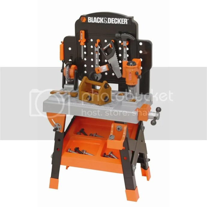 black and decker deluxe power tool work shop instruction manual