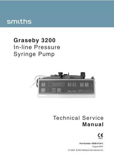 graseby 2000 syringe pump service manual