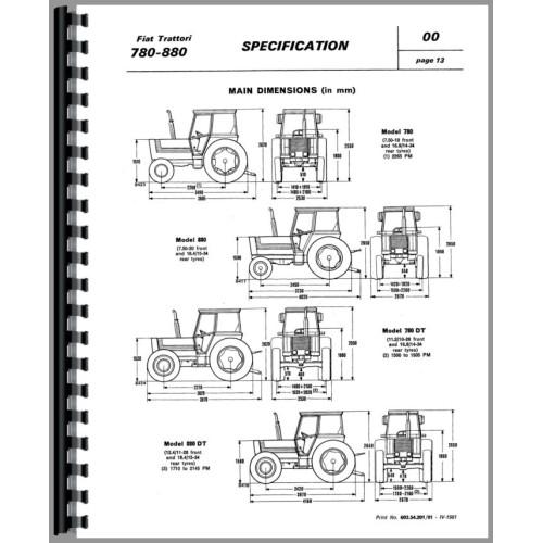 fiat 80-90 tractor factory service repair manual pdf