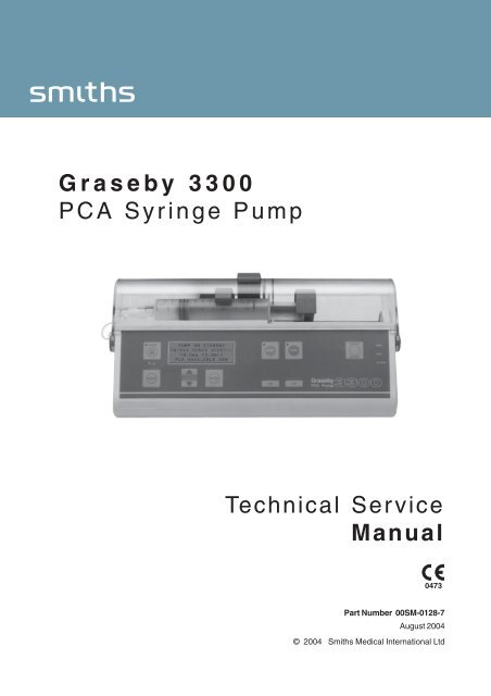 graseby 2000 syringe pump service manual
