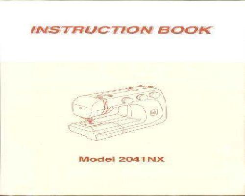 jones sewing machine manual vx 2080