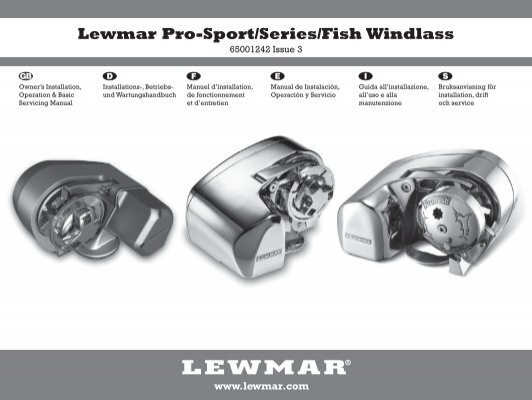 lewmar v700 windlass owners manual