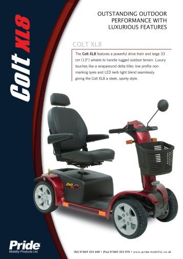 Pride Legend Classic Mobility Scooter Manual