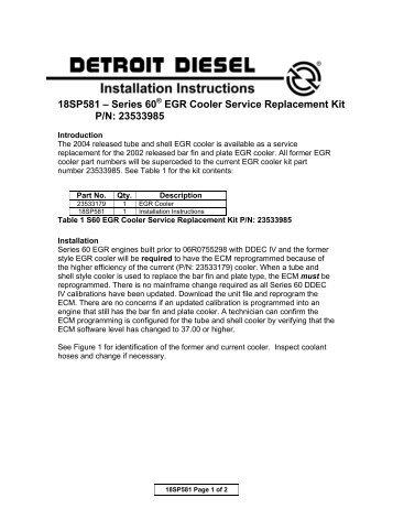 series 60 egr service manual
