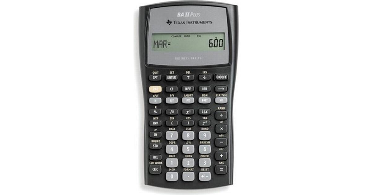 texas instruments ti-ba ii plus financial calculator manual