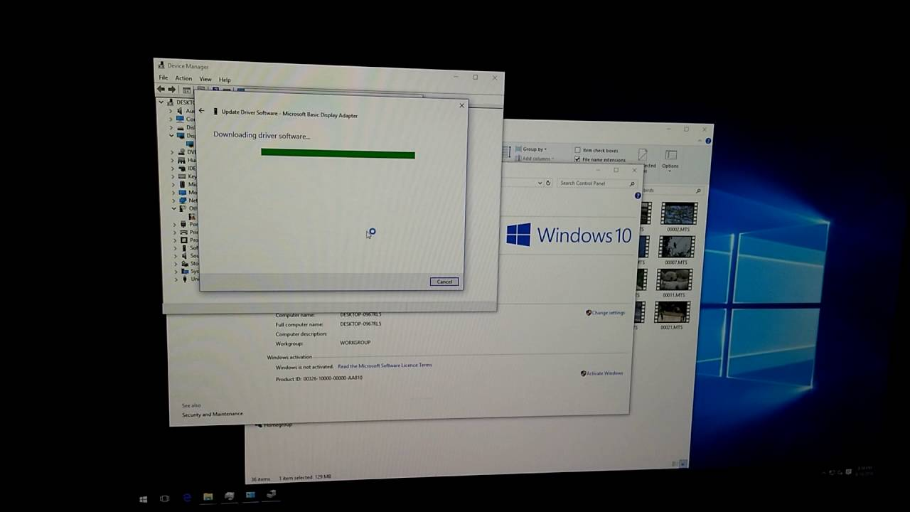 video card update windows 10 manually